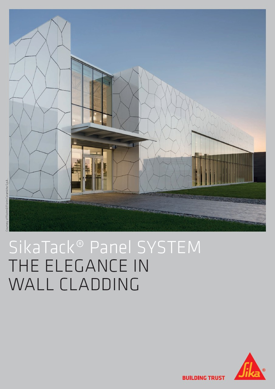 SikaTack® Panel System - The Elegance in Wall Cladding
