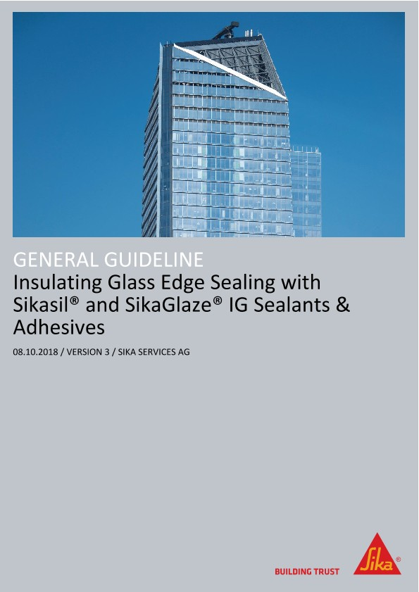 Insulating Glass Edge Sealing with Sikasil® and SikaGlaze® IG Sealants and Adhesives