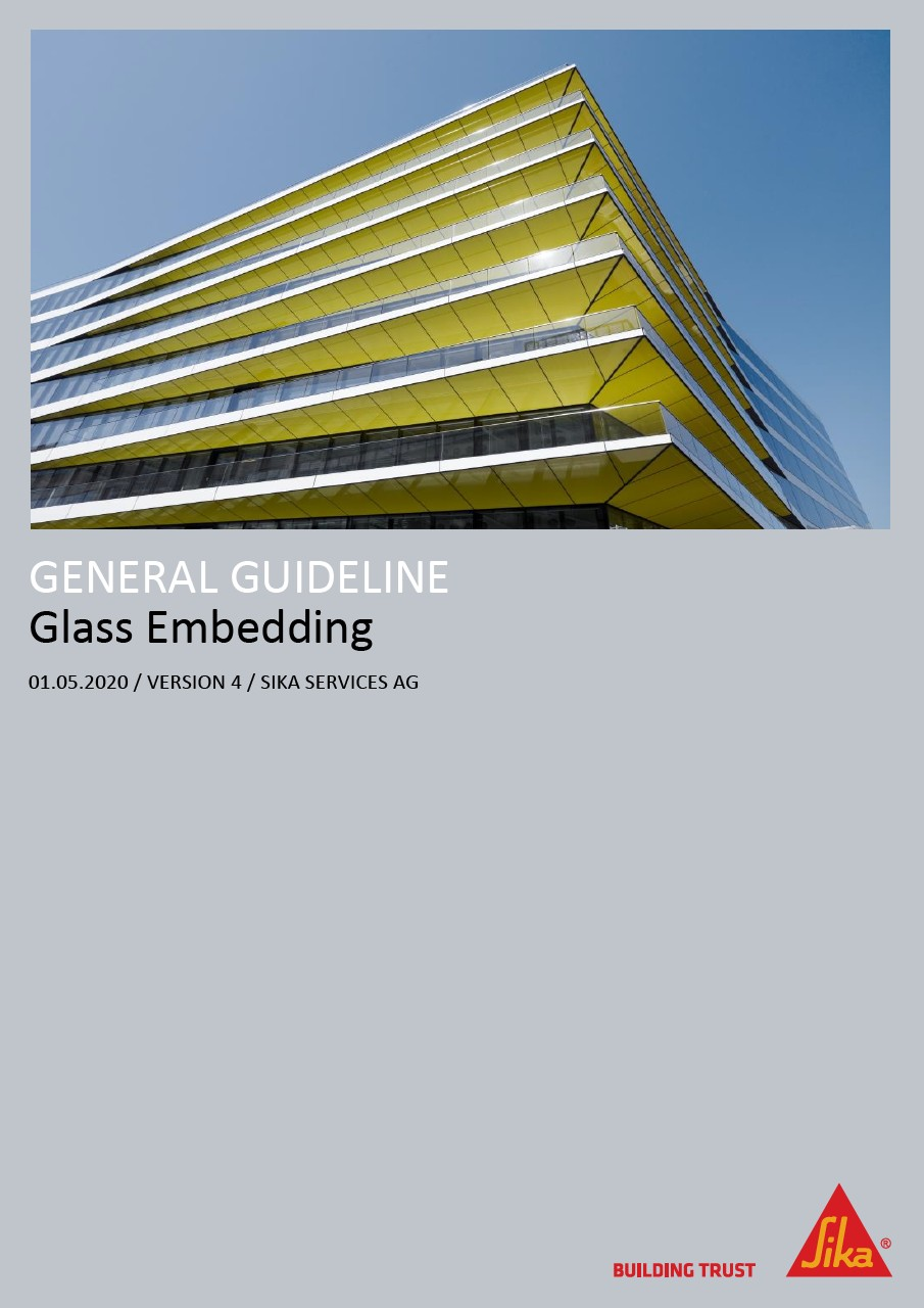 Glass Embedding with self-levelling Polyurethane