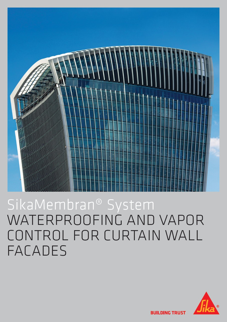 SikaMembran® System - Waterproofing and Vapor Control for Curtain Wall Facades