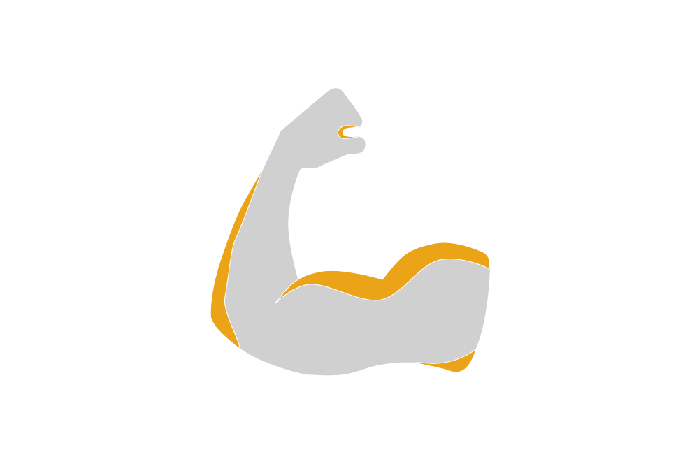 illustration of a strong arm showing strength