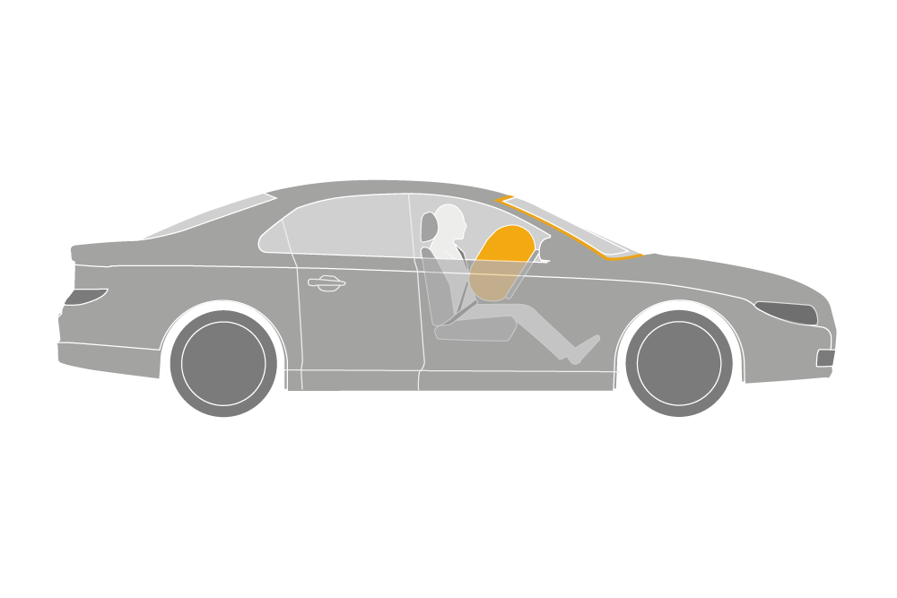 illustration showing airbag backboard