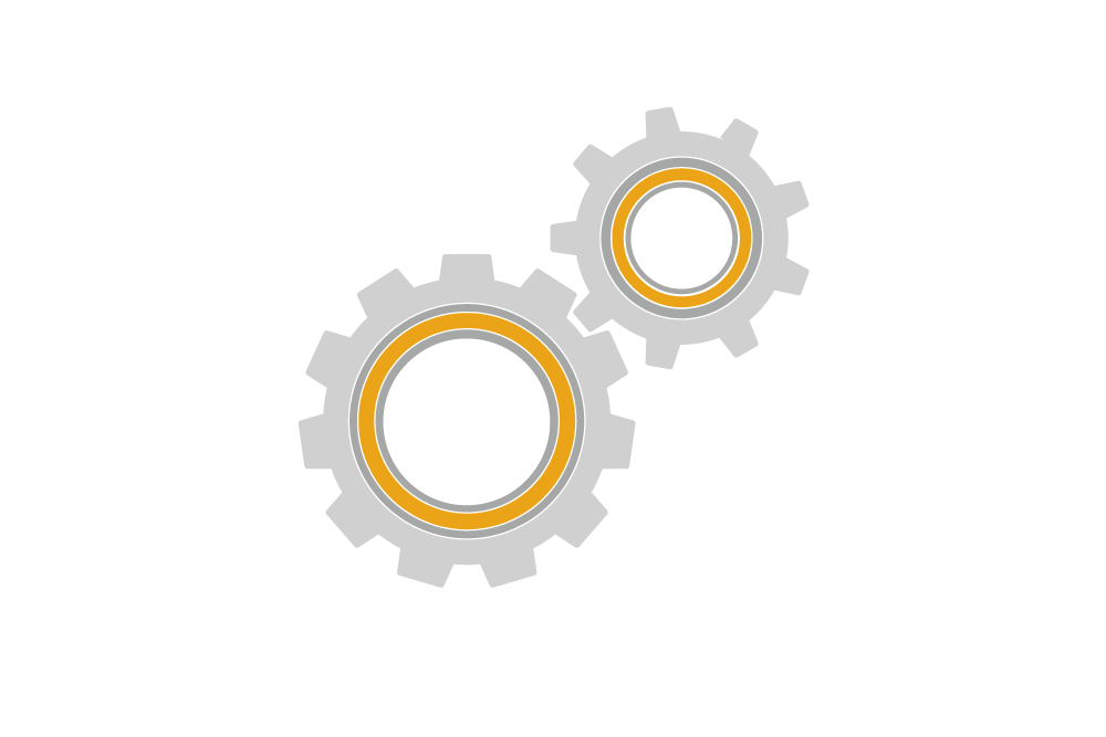 illustration of wheels turning showing a process